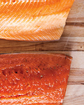 Raw and Cured Salmon
