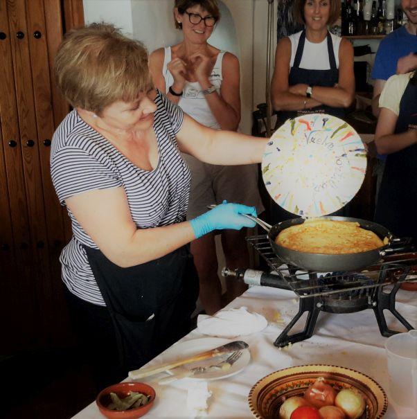 Conchi Flipping Tortilla