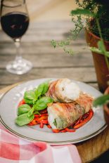 Woodfired Monkfish with Pancetta and Basil