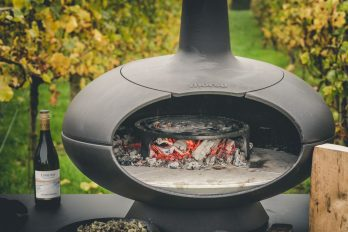 Woodfired steak with chimichurri sauce