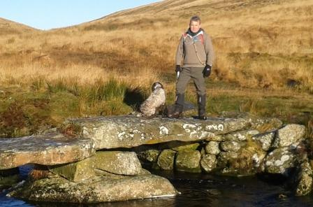 David and Rex on Dartmoor.