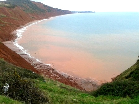 Discloured Water following Landslips