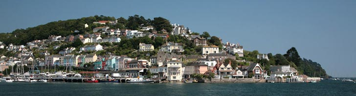 View of accommodation in Kingswear from Dartmouth