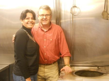 David and Romy at the Tandoor