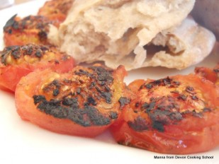 Tomatoes and Flat Bread. Grill Like A Gaucho