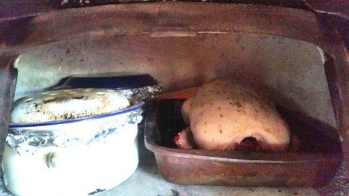 pots in oven