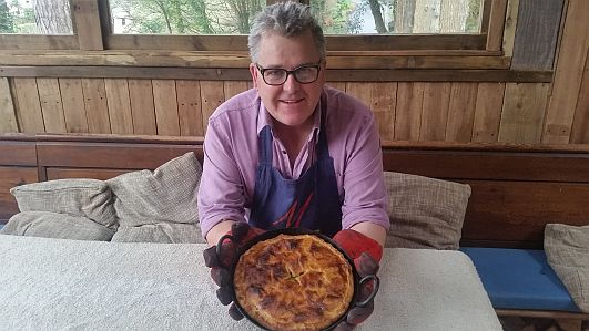 David and his amazing woodfired pie.