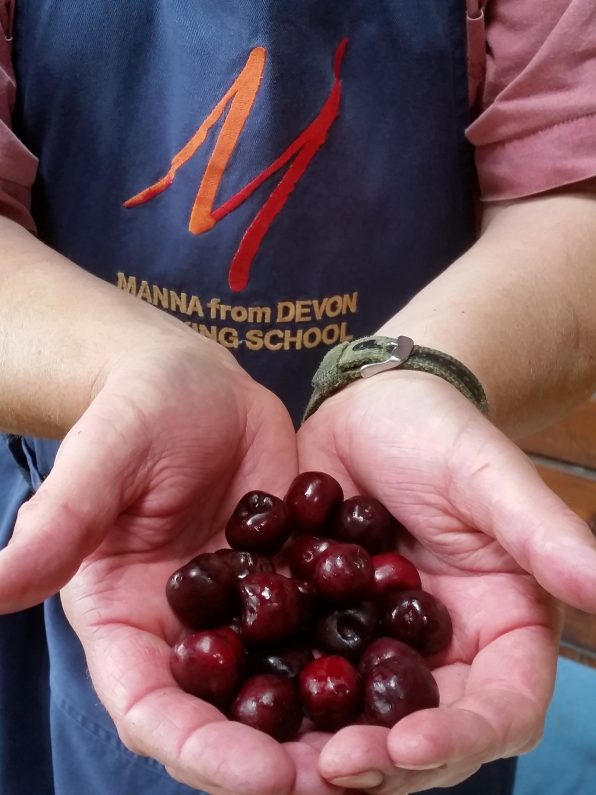 A handful of cherries