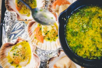 Woodfired Scallops with Garlic and Parsley
