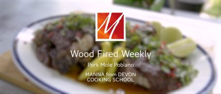 Woodfired Pork Chops with Mole Poblano Sauce