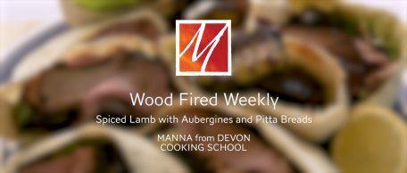 Woodfired Spiced Lamb, Roast Aubergines & Pitta Breads