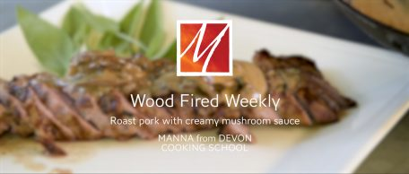 Woodfired Pork with a Creamy Mushroom Sauce