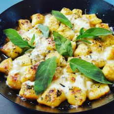 Woodfired Gnocchi with Sage & Blue Cheese