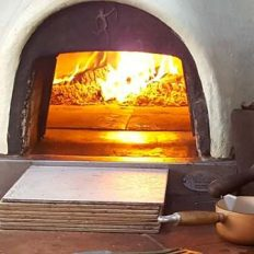 Sicilian Pizza from the Wood Fired Oven