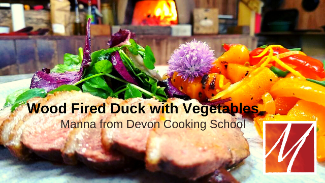 Wood Fired Duck Breast with Braised Spiced Vegetables