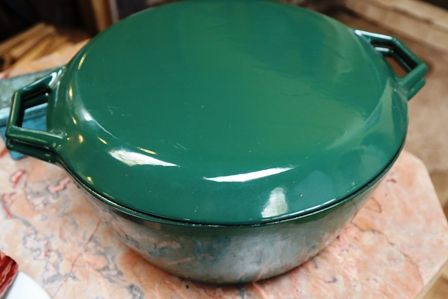 Large Green Aga Casserole with Lid