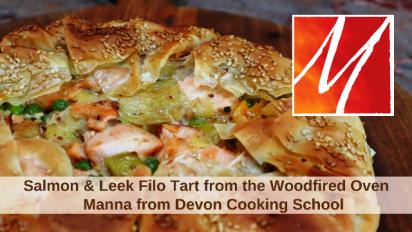 Salmon & Leek Filo Tart from the Woodfired Oven