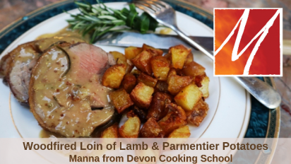 Roast Loin of Lamb with Parmentier Potatoes from the Woodfired Oven