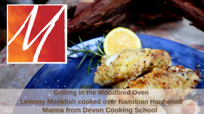 Grilling in the Woodfired Oven - Monkfish Tails with Lemon & Herbs