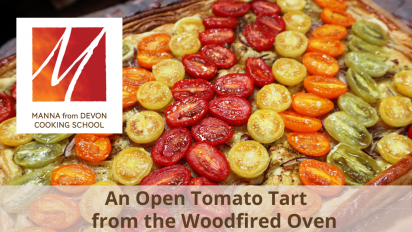 An Open Tomato Tart from the Woodfired Oven