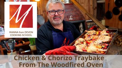 Chicken & Chorizo Traybake from the Woodfired Oven